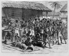 ASHANTEE BUYING MUSKETS WITH GOLD DUST, ASSINEE HISTORY