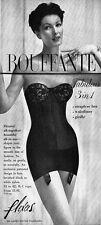 Black Bouffante Girdle FLEXEES Strapless Bra WAISTLINER 1956 Magazine Ad