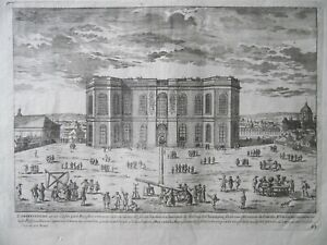 The Royal Observatory Paris. Astronomy. c1700 Etching by Adam Perelle. RARE