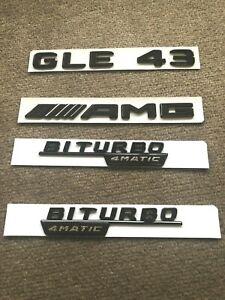 Matte Black GLE43 AMG BITURBO 4MATIC Sticker Emblem Badge Package for GLE43