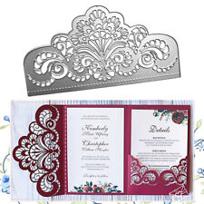 Crown Lace Metal Cutting Dies Invitation Craft Scrapbooking Die Cut Wedding Dies