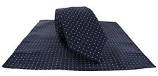 Michelsons of London Pin Dot Tie & Pocket Square Set