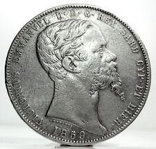 SARDEGNA (Vittorio Emanuele II) Lire 5-1859 Genova