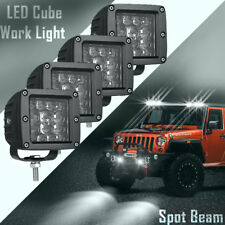 3in Quad Row LED Cube Work Light Bar Spot Combo Beam 6000K Driving 4WD JEEP X4