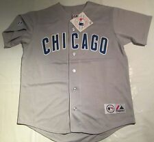 Chicago Cubs Men's Replica Gray Road Jersey  Size Large MLB baseball Majestic