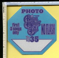 Allman Brothers Band 2004 'Big 35th Tour' Octagonal Photo Pass