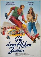 Gib dem Affen Zucker ORNELLA MUTI, ADRIANO CELENTANO 1981 - Filmplakat DIN A1