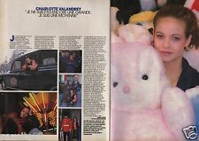 Coupure de presse Clipping 1986 Charlotte Valandrey  (2 pages)