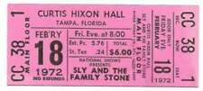 Sly & The Family Stone Concert Ticket 1972 Tampa Pink