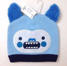 03f2a1d0b9e85 Baby Infant Boy Girl 0-6 month MONSTER BEANIE WITH EARS Winter Knit Hat
