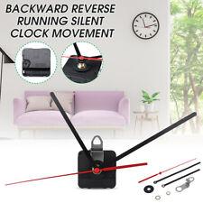 Backward Reverse Running Silent Clock Movement mechanism Replacement DIY Kit Red