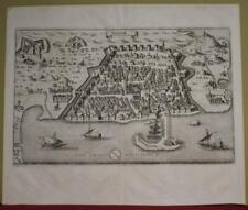 ALGIERS ALGERIA 1646 MATTHÄUS MERIAN SCARCE ANTIQUE ORIGINAL COPPER ENGRAVED MAP