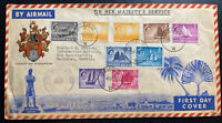 1955 Singapore Malaya First Day OHMS Cover FDC To Bathurst Gambia Colony