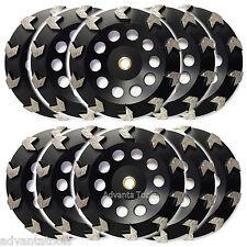 "10PK 7"" Arrow Segment Diamond Grinding Cup Wheel for Concrete - 7/8""-5/8"" Arbor"