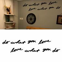 EE_ DO WHAT YOU LOVE ACRYLIC WALL MIRROR STICKER DECAL DIY HOME ROOM DECOR FADDI