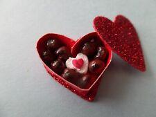 Valentine Heart Chocolate Candy Box Dollhouse Minis 1:12 Gailslittlestuff #2