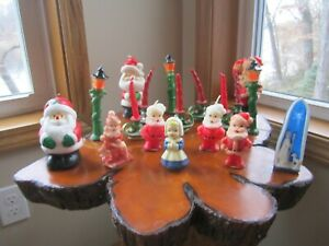 Vintage Lot Of 17 Gurley Figures Wax Candles 1950s never burned