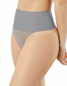 Maidenform NWT Silver Blue Tame Your Tummy Lace Thong Panty DM0049 S M L XL XXL