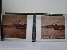 ANTIGUA PLACA FOTO CRISTAL x 5 HAMBURGO 1926 EL PUERTO DE/HAMBOURG ESTEREOSCOPIO