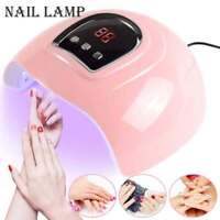 54W LED UV Nail Polish Dryer Lamp Gel Acrylic Curing Light Pro Spa Tool UK