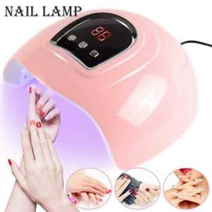 54W LED UV Nail Polish Dryer Lamp Gel Acrylic Curing Light Pro Spa Tool UK