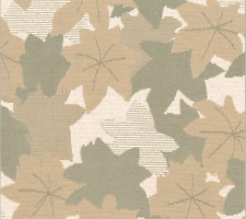 Brentano Acer pebble Pond Leaves Foliage tan & Green Crypton Upholstery Fabric