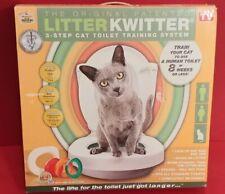 LITTER KWITTER Cat Toilet Training System LK-1 WITH INSTRUCTIONAL DVD NEW
