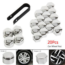 20X 17mm ALLOY WHEEL NUT BOLT COVERS CAPS UNIVERSAL SET FOR VW POLO GOLF ANY CAR