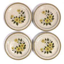 4 SPRING DAISY Crown Manor HandPainted Stoneware Japan Salad Dessert Plates Lot