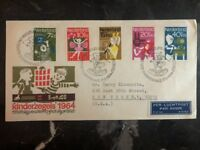 1964 The Hage Holland First Day Cover FDC To New York USA Children's Stamps