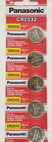 5 x SUPER FRESH Panasonic ECR2032 CR2032 Lithium Battery 3V Coin Cell Exp. 2027
