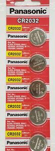 5 x SUPER FRESH Panasonic CR 2032 CR2032 Lithium Battery 3V Coin Cell Exp. 2030