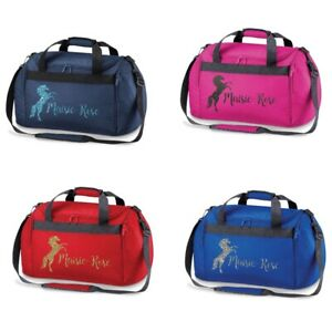 PERSONALISED HORSE RIDING HOLDALL ABSOLUTELY TOP GIRLS BOYS KIDS LADIES KIT BAG
