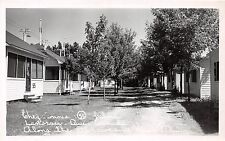 <A5> CANADA Quebec Postcard Real Photo RPPC 1950 LANORAIE St Lawrence Cabins