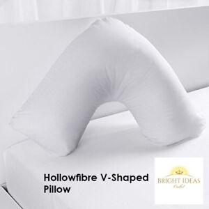 V Shaped Pillow Extra Filled Back Support Orthopedic Pregnancy Nursing Maternity