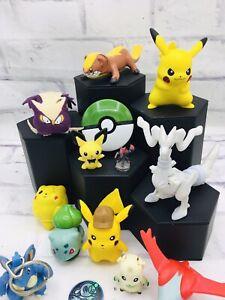 Pokemon Kyogre Servine Jigglypuff Pikachu Figure Mini Plush Coin Clip Toys Lot