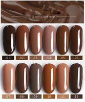 BELLE FILLE 10ml Coffee Brown Series Caramel UV Nail Gel Polish Soak Off Varnish