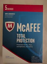 McAfee Total Protection 2017 5 Devices Key Code Box 1 Year with Free Ship