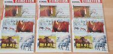 """3 Bögen Sticker Aufkleber """" School Etiketten Pferde  """" Sticker Sammlung"""