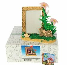 Charming Tails figurine vtg Nib box mouse mice Fitz Floyd Picture frame Thinking