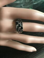 Ring black stones size 6 New with tags