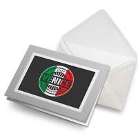 Greetings Card (Grey) - Venice Italy Italian Flag Travel  #6108