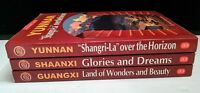 Panoramic China 3 book lot Yunnan Guangxi Shaanxi PB 2006
