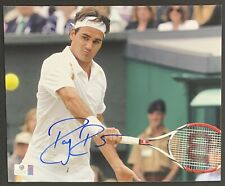 Roger Federer Tennis Superstar Signed 8x10 Photo Autographed GA COA