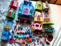 HUGE Disney MagiClip Princess Dolls Playsets & Figures 2011 Mattel Cinderella