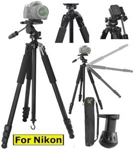 "80"" PRO TITANIUM ALLOY TRIPOD W ANGLED LEGS FOR NIKON D7200 D5000 D5100 D5600"