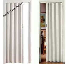 New Easy to fit  PVC Oak Effect Folding Door  Magnetic Sliding - White