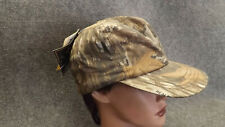 Vtg NEW Realtree Camo Goretex Hunting Hat/Cap w/Earflaps Whitewater Outdoors MED