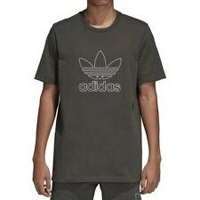 Adidas Originals Contorno Camiseta Hombre Trébol Gimnasio SPORTS Moda Bordado