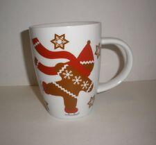 Crate & Barrel Gingerbread Man Holiday Coffee Mug Cup 14 Oz